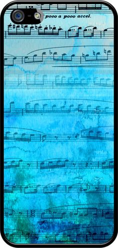 Blue Mood Music By AfterMyArt for Apple iPhone 5