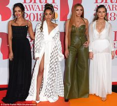 Reunited: The Little Mix girls were seen back on the red carpet for the first time since t...