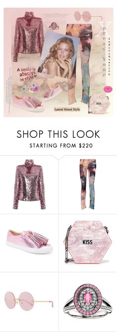 """A smile is always in style"" by zabead ❤ liked on Polyvore featuring Mother, Loeffler Randall, Edie Parker, Karen Walker and ELLA"