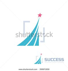 Success - abstract vector logo illustration. Design elements with star sign illustration. Development logo. Growth logo. Company logo. Start-up logo sign. Vector logo template.