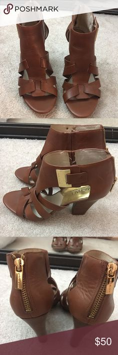 I just added this listing on Poshmark: Michael Kors Brown leather heels. #shopmycloset #poshmark #fashion #shopping #style #forsale #MICHAEL Michael Kors #Shoes