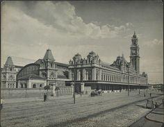 S. P. R. Estação da Luz. Por Guilherme Gaensly, cerca de 1902. São Paulo, SP