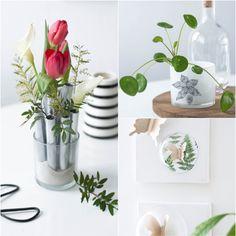 Lasst Farbe in die Wohnung! Wie man seiner Wohnung einen Touch Frühling gibt, zeigt uns Rebecca auf ihrem Blog Sinnenrauschen. #basteln #diy #interior