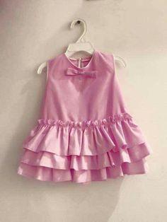 Post - ideas sewing for kids dress sweets dress sewing Girls Dresses Sewing, Frocks For Girls, Kids Frocks, Little Girl Dresses, Dress Sewing, Baby Dress Design, Frock Design, Baby Girl Fashion, Fashion Kids