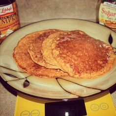 There's just something about fall that makes everyone go pumpkin crazy. I happen to be one of those people! :-D These protein pancakes are delicious. I used Cellucor Cinnamon swirl protein in this ... Protein Pancakes, Protein Foods, Healthy Recipes, Cooking Recipes, Protein Recipes, Pumpkin Pancakes, Swirls, Crepes, Baking Soda