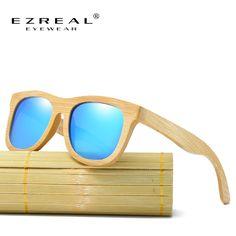 891741ef1d2a4 Aliexpress.com  Compre EZREAL Óculos Polarizados Óculos de marca óculos de  sol de Bambu De Madeira Caixa De Madeira Do Vintage óculos de Sol de Praia  para a ...