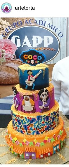 I Made This Disney Coco Cake For My Sons 7th Birthday
