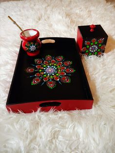 Decoupage, Diy Home Decor Projects, Aurora, Tray, Dots, Camping, Crafts, Painting, Painted Trays