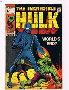The Incredible Hulk 117 VG FN Marvel Comic Book Hi Res Scans WOW Worlds End | eBay