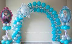 FroZen Balloon arch and columns