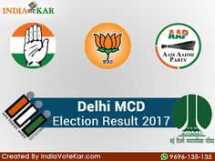 The Delhi Municipal Corporation Election i.e Delhi MCD Election Result 2017 Ward Wise To be declared on 26/04/17, three days after voting took place in 270 wards across the three civic bodies – North Delhi Municipal Corporation, South Delhi Municipal Corporation and the East Delhi Municipal Corporation. See more: http://indiavotekar.com/delhi-mcd-election-2017/