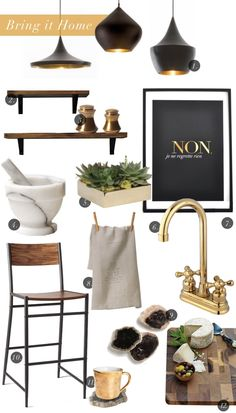 white + wood + brass = the perfect kitchen // Bring it Home :: Bold as Brass | Camille Styles