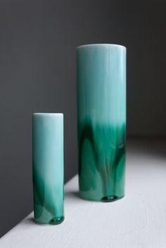 Reactive glazes are often more associated with stonewares of Japan but Reiko Kaneko's studio have been experimenting with unpredictable colours over crisp, white forms and shapes of white china.