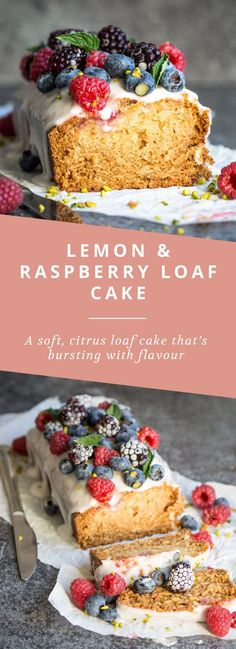 A delicious, vegan raspberry and lemon loaf cake - you'd never guess this was vegan!