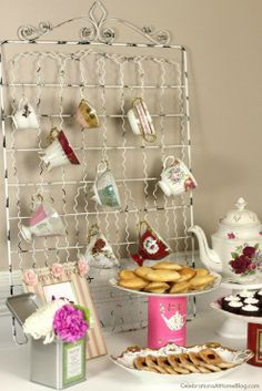 Tea Party Backdrop (from Celebrations at Home). For a baby or wedding shower, birthday or 'high tea' get-together.