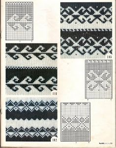 Fair Isle Charts Motif these are great if you are doing double knitting and are changing background color