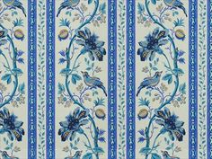 Brunschwig & Fils LE LAC BORDER BLUE/WHITE 8012110.51 - Brunschwig & Fils - Bethpage, NY, 8012110.51,Brunschwig & Fils,Print,Blue,Blue,SOFTENED,Up The Bolt,Le Jardin Chinois,USA,Asian,Multipurpose,Yes,Brunschwig & Fils,No,Le Jardin Chinois,LE LAC BORDER BLUE/WHITE