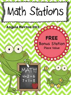 FREEBIE - Place Value Math Station - for 4th, 5th, and 6th grade