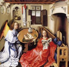Annunciation Triptych (Merode Altarpiece), ca. 1427–1432 of Robert Campin (Netherlandish)