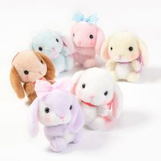 Pote Usa Loppy Feminine Rabbit Plush Collection (Ball Chain) 1