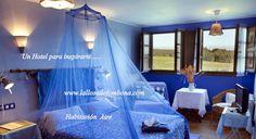 Habitación Doble #Aire #Hotel La LLosa de Fombona # Faro del #Cabo de Peñas #Luanco #Asturias .Siguenos en www.lallosadefombona.com