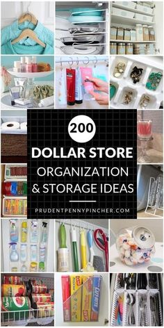 200 DIY Dollar Store Organization and Storage Ideas. 200 Dollar Store DIY Organization Ideas Spring cleaning just got a whole lot cheaper! Organize for less with these creative dollar store organization and storage ideas Dollar Store Organization, Dollar Store Hacks, Closet Organization, Dollar Stores, Closet Storage, Kitchen Organization Ideas Diy, Household Organization, Dollar Dollar, Organization Ideas For Pantry