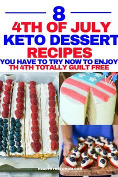 Are you looking for some delicious low carb 4th of July recipes? Try these Keto 4th of July desserts this year for an unforgettable celebration while not feeling guilty about eating carbs and sugar. These easy ketogenic diet recipes are quick to make and will be sure to impress your guests! #keto #ketodessert #lowcarbdessert #fatbomb #sugarfree #lowcarb #ketogenic #ketodesserts