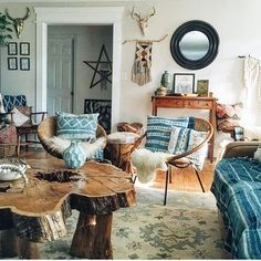 Have been looking back at this year on Instagram. . Remembering that time when our humble living room was shared on @thejungalow. Boy, was that a rush! Some details have changed --not binging on indigo right now --but the bones are the same.