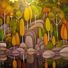 Virtual Museum, best of contemporary visual art, page 65 Watercolor Landscape, Landscape Art, Landscape Paintings, Easy Canvas Painting, Diy Painting, Mini Diy, Canadian Art, Nature Illustration, Whimsical Art
