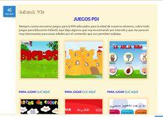 juegos PDI para educación infantil y primer ciclo de educación primaria. Si quieres jugar visita nuestra página web