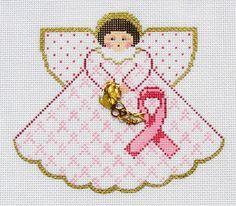 Painted Pony Breast Cancer Ribbon Angel Handpaint Needlepoint Canvas s Guide | eBay