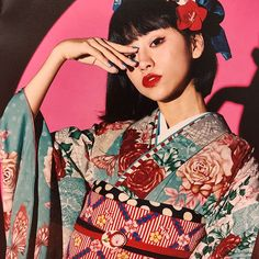 Japanese Outfits, Japanese Fashion, Modern Kimono, Wedding Kimono, Japanese Poster, Kawaii Clothes, Mori Girl, Harajuku Fashion, Yukata