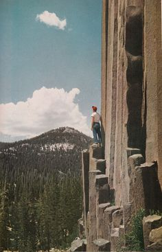 «Climbing a stairway to the sky. Devils Postpile National Monument»