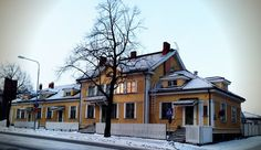 Pori old railway station, Finland Beautiful Buildings, Old Houses, Finland, Contemporary Design, Mansions, House Styles, Mansion Houses, Manor Houses, Modern Design