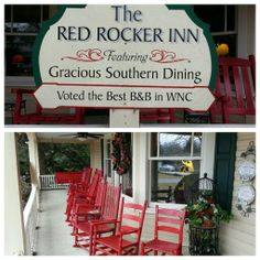 Red Rocker Inn in Black Mountain North Carolina. .Went here for dinner the week of Thanksgiving 2013. Great Food!