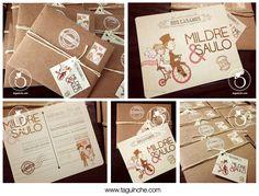 Invitaciones tarjeta postal, Boda www.taguinche.com