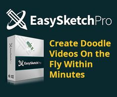 'Easy Sketch Pro' is some pretty cool software that creates 'doodle videos' for you, easily.  With 'Easy Sketch Pro' you can create UNLIMITED videos at the click of a button.  It has a pure 'Drag N Drop' Interface with a library of ready made images that are updated regularly and some background sound tracks.  This provides a simple to use interface even a tecno dunce' would be very comfortable with it!  http://websitesuccessaccelerator.com/likes/easysketchpro