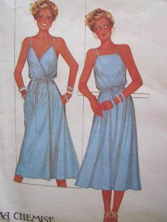 See Sally Sew-Patterns For Less - Ma Chemise Sundress Wrap Dress McCall's 6587 Vintage Pattern Sz. 10 - 12, $9.99 (http://stores.seesallysew.com/ma-chemise-sundress-wrap-dress-mccalls-6587-vintage-pattern-sz-10-12/)