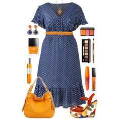 Plus Size in Blue & Orange
