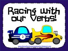 Lots of fun verb activities, assessments and games! The boys will love the race car theme!