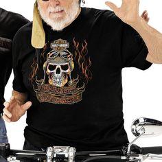 Orig. Harley-Davidson Dealer Shirt  FLAMES SKULL  T-Shirt *R0006265* Gr. L