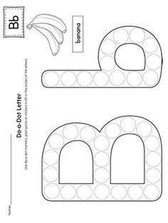 The Letter B Do-A-Dot Worksheet is perfect for a hands-on activity to practice recognizing the letters of the alphabet and differentiating between uppercase and lowercase letters.