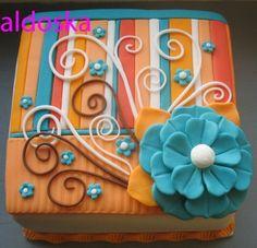 Orange & Blue  design