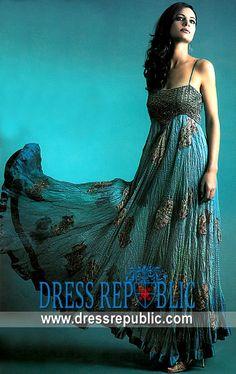 Turquoise Alice, Product code: DR1739, by www.dressrepublic.com - Keywords: Pakistani Indian Wedding dress designers Leeds, Bridal Wear Leeds, UK