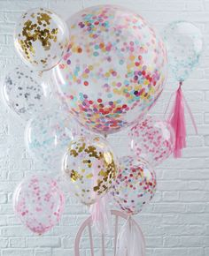 We love confetti balloons! They're the perfect party decoration for birthdays, weddings, baby showers and other special occasions! We've got them in a variety of colours at partydelights.co.uk.
