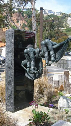 Statue Dedicated to Riggers, California. My dad was an ironworker, and did work like this.