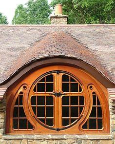 Hobbit House - traditional - exterior - philadelphia - Archer & Buchanan Architecture, Ltd. Hobbit Hole, The Hobbit, Cabin Design, House Design, Cottage Design, Door Design, Exterior Tradicional, Traditional Exterior, Doorway