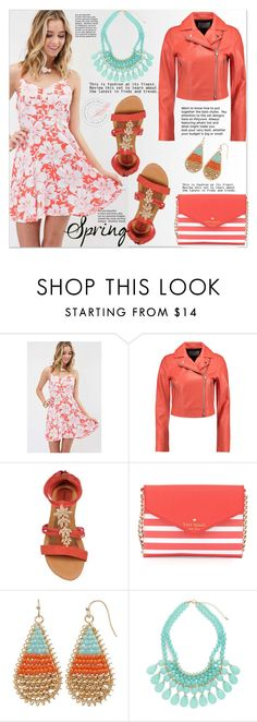 """Spring Day to Night"" by cherry-bh ❤ liked on Polyvore featuring T By Alexander Wang, Kate Spade, daytoevening and seasideboutique"
