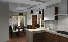 Modern egyterű nappali lakberendezése egy hagyományos családi házban Modern, Kitchen, Table, Furniture, Home Decor, Trendy Tree, Cooking, Decoration Home, Room Decor