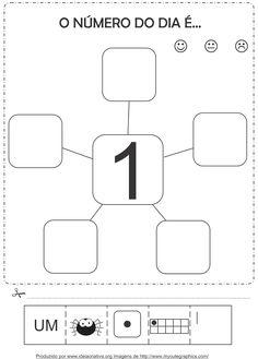 Atividades com os numerais de 1 a 2 Corte e Recorte Educativo